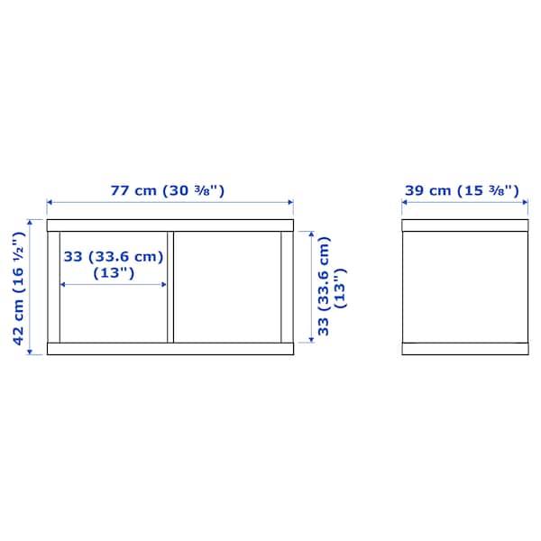 KALLAX Estante, branco, 77x42 cm