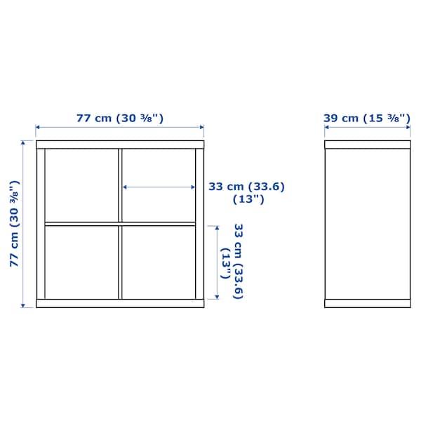 KALLAX Estante c/portas, branco/brilh, 77x77 cm