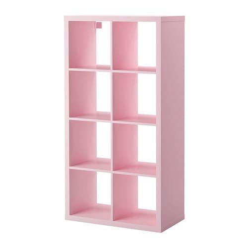 Artesanato Infantil Em Madeira ~ KALLAX Estante rosa claro IKEA