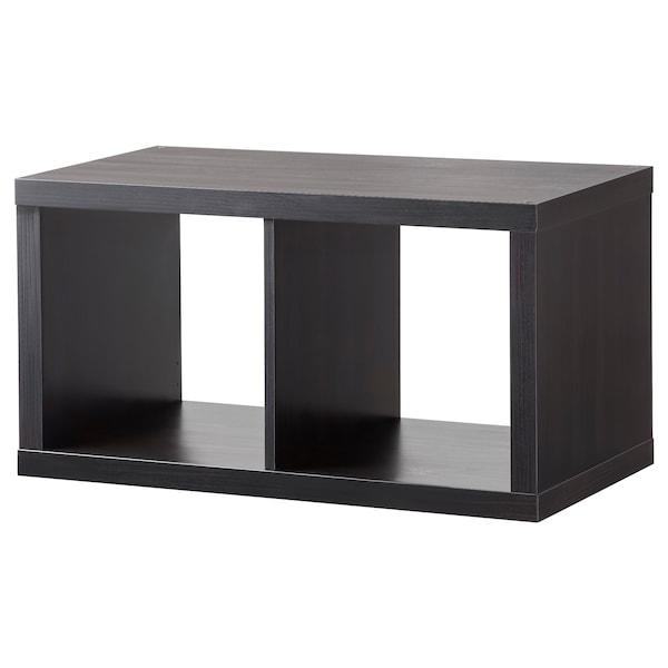 KALLAX Estante, preto-castanho, 77x42 cm