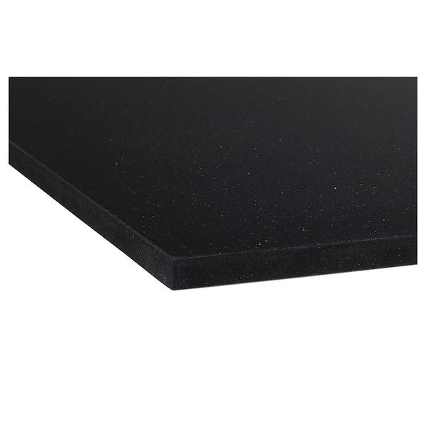 KASKER Bancada feita à medida, preto efeito pedra/quartzo, 1 m²x2.0 cm
