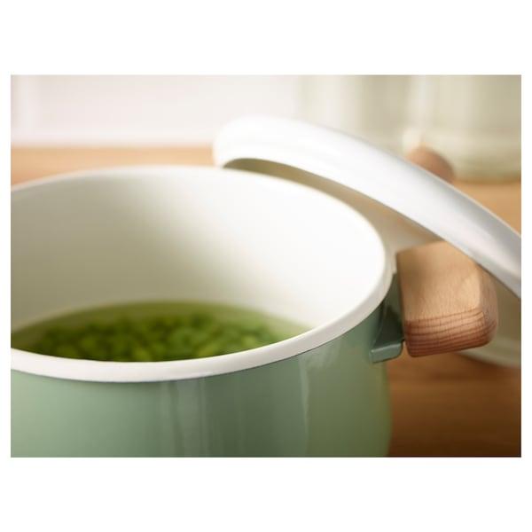 KASTRULL Panela c/tampa, verde, 3 l
