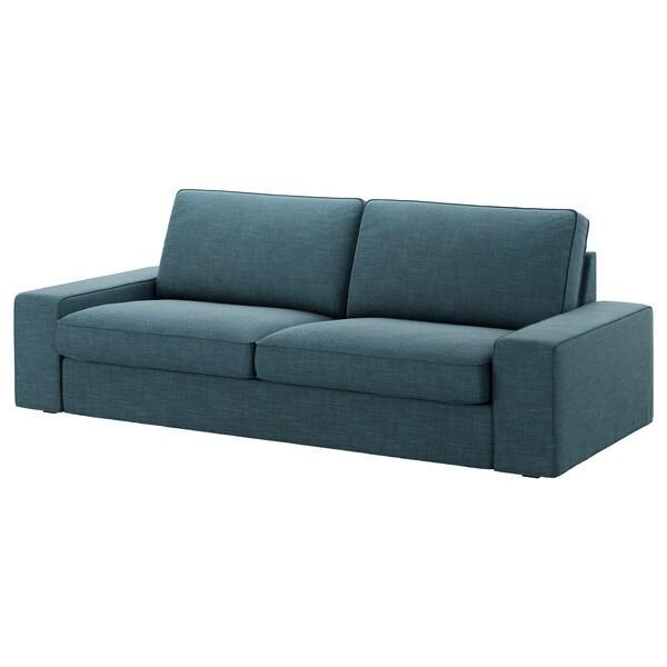 KIVIK Capa p/sofá de 3 lugares, Hillared azul escuro