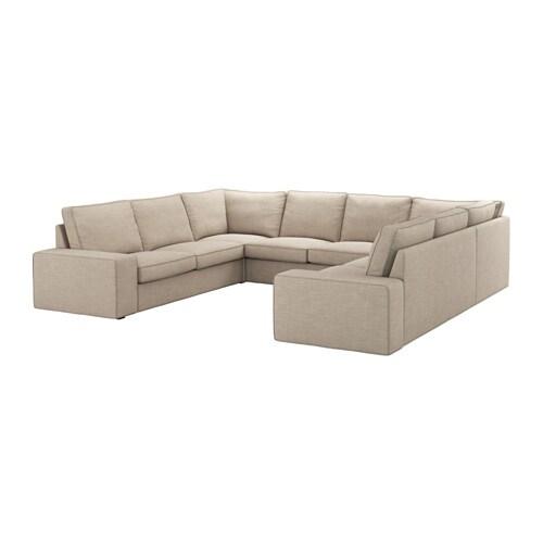 kivik sof em u 6 lug hillared bege ikea. Black Bedroom Furniture Sets. Home Design Ideas