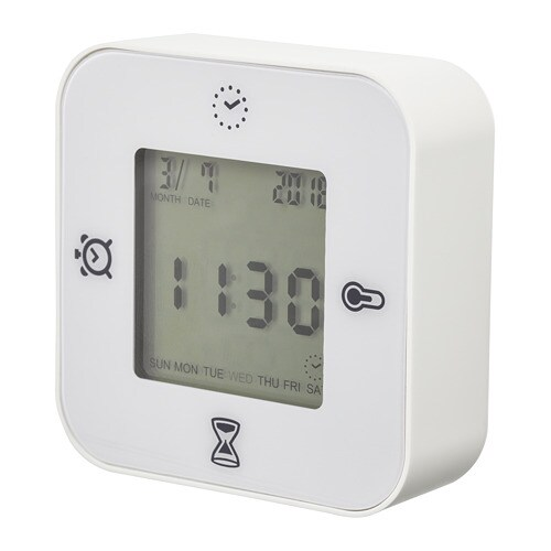 373577d9175 KLOCKIS Relógio termómetro despert. cronóm. - IKEA