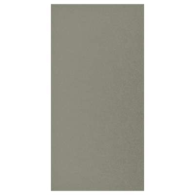KLUBBUKT Porta c/dobradiças, verde acinzentado, 60x120 cm