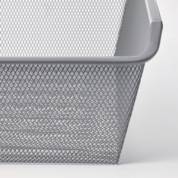 KOMPLEMENT Cesto rede c/calha extraível, cinz esc, 100x35 cm