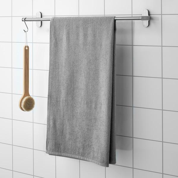 KORNAN Toalha de banho, cinz, 70x140 cm