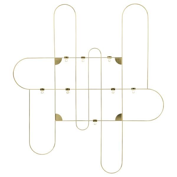 KORSMON Quadro p/mensagens c/molas, dourado