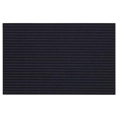 KRISTRUP Tapete de entrada, azul escuro, 35x55 cm