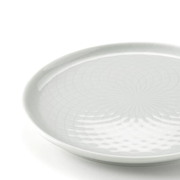 KRUSTAD Prato de sobremesa, cinz clr, 16 cm