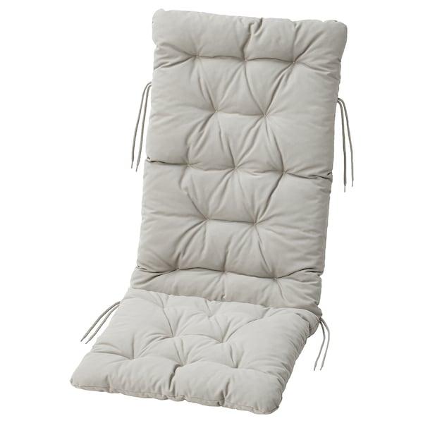 KUDDARNA Almofada assento/encosto, exterior, cinz, 116x45 cm