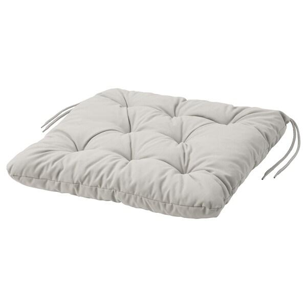 KUDDARNA Almofada p/cadeira, exterior, cinz, 44x44 cm