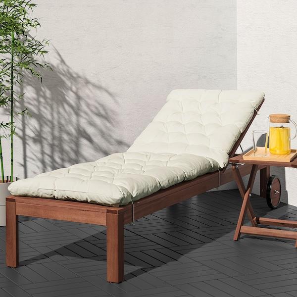 KUDDARNA Almofada p/espreguiçadeira, bege, 190x60 cm
