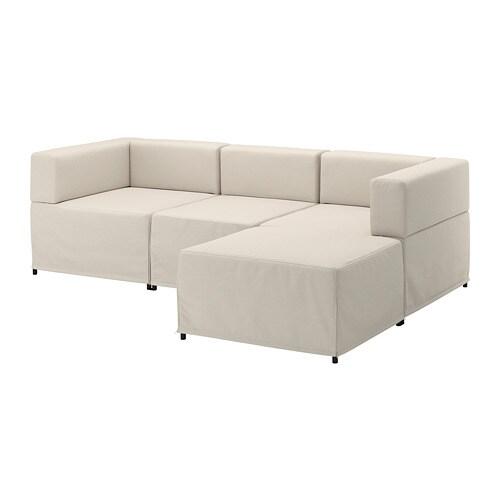 kungshamn sof modular 3 lugares idekulla bege ikea. Black Bedroom Furniture Sets. Home Design Ideas