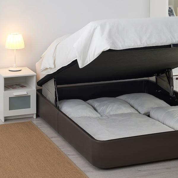 KVITSÖY estrut cama acolchoada c/arrumação Bomstad castanho escuro 200 cm 160 cm 33 cm 200 cm 160 cm
