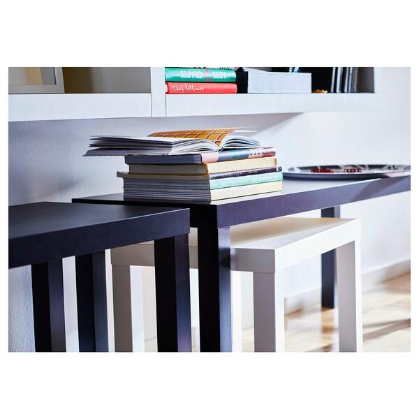 LACK Mesas de encaixar, conj. 2, preto/branco