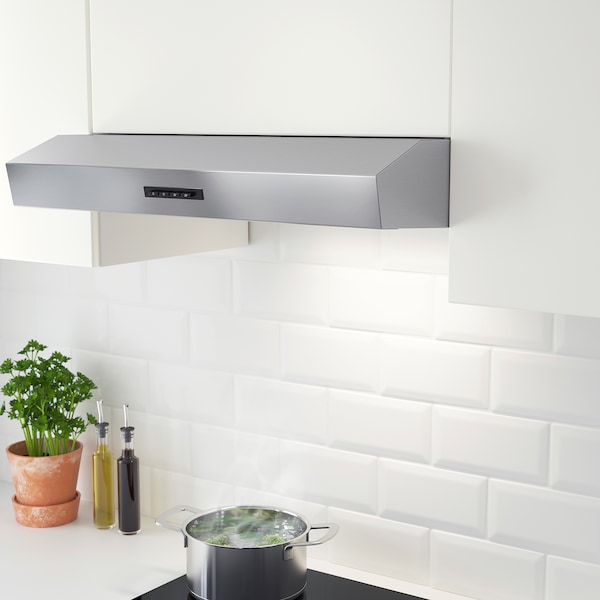 LAGAN Exaustor de parede, aço inoxidável, 60 cm