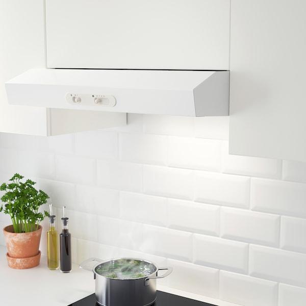 LAGAN Exaustor de parede, branco, 60 cm