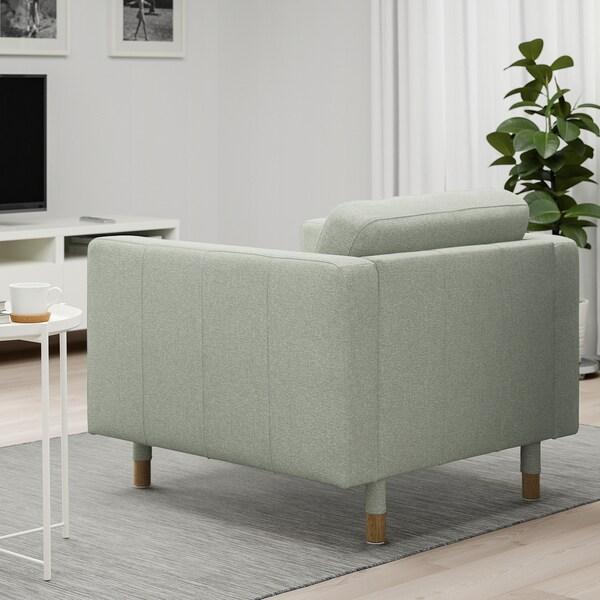 LANDSKRONA poltrona Gunnared verde claro/madeira 89 cm 89 cm 78 cm 65 cm 61 cm 44 cm