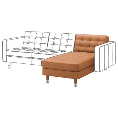 LANDSKRONA Chaise longue, módulo adicional, Grann/Bomstad castanho dourado/metal