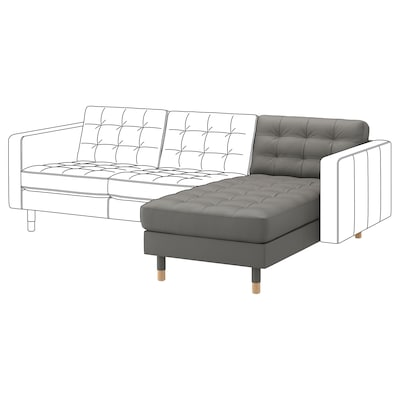 LANDSKRONA Chaise longue, módulo adicional, Grann/Bomstad verde acinz/madeira