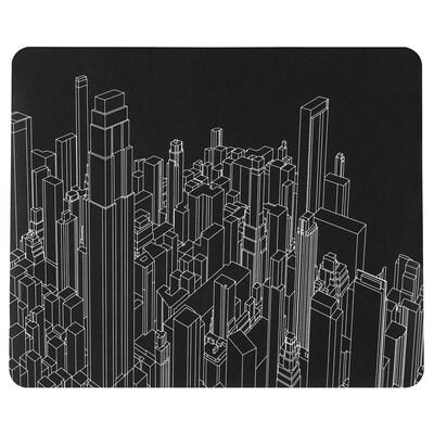 LÅNESPELARE Tapete rato p/jogos, c/padrão, 36x44 cm