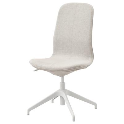 LÅNGFJÄLL Cadeira p/escritório, Gunnared bege/branco