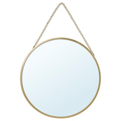 LASSBYN Espelho, dourado, 25 cm