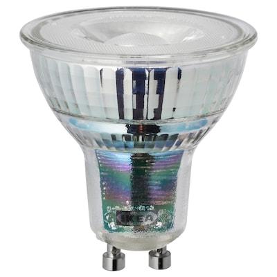 LEDARE Lâmpada LED GU10 345 lúmenes, regulação p/tonalidade quente