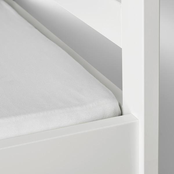 LEN Lençol ajustável, branco, 70x160 cm