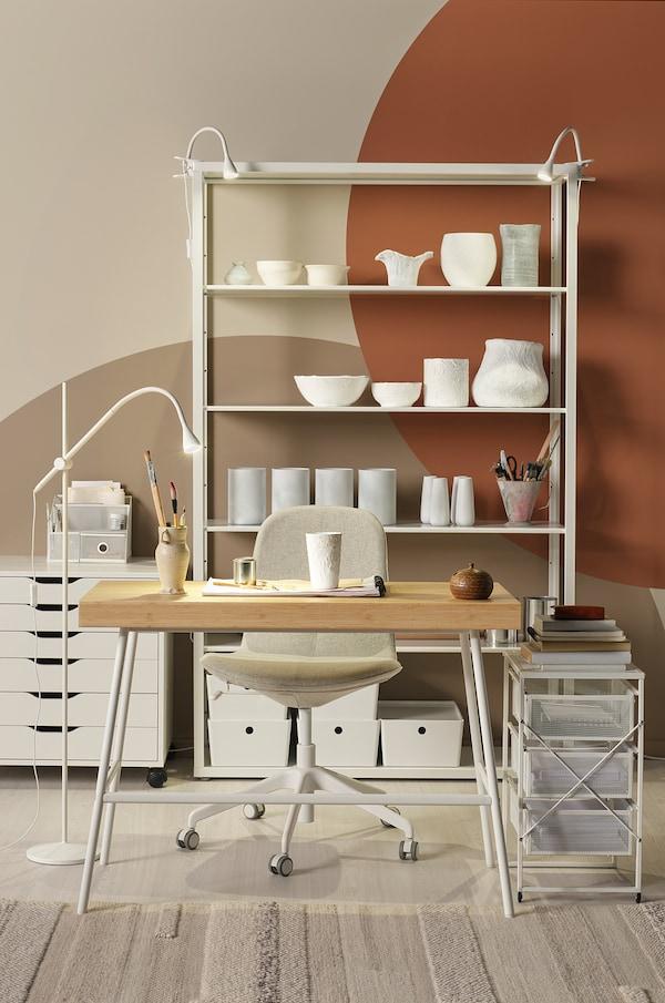 LENNART Bloco de gavetas, branco