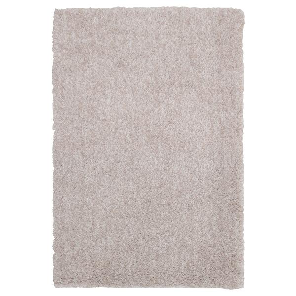 LINDKNUD tapete pelo comprido bege 90 cm 60 cm 9 mm 0.54 m² 1610 gr/m² 950 gr/m² 26 mm