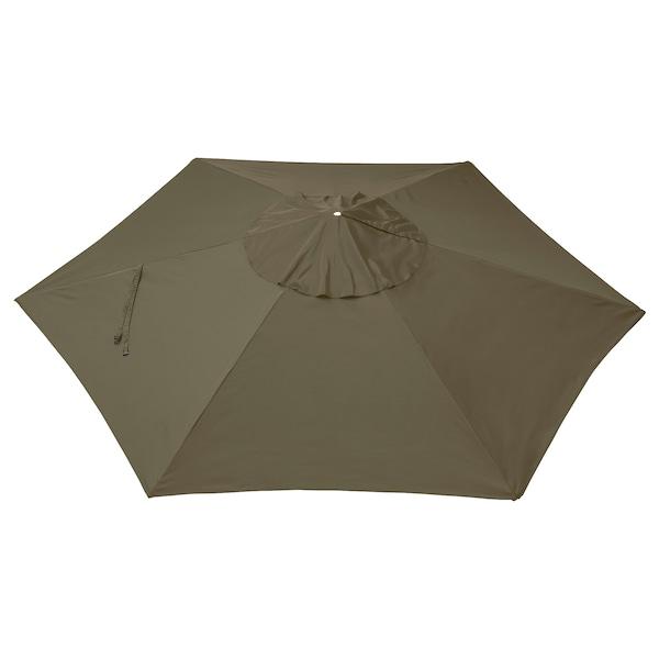 LINDÖJA Resguardo guarda-sol, bege-verde, 300 cm