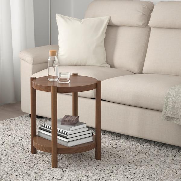 LISTERBY mesa de apoio castanho 56 cm 50 cm