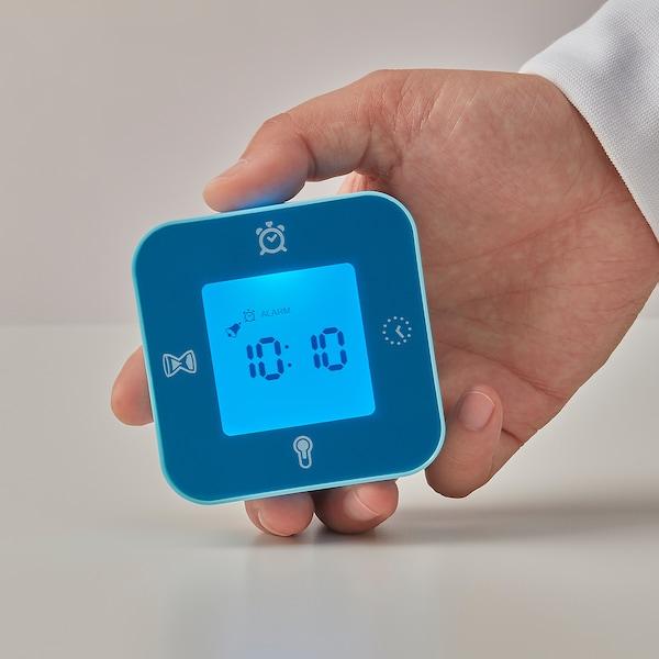 LÖTTORP relógio/termómetro/despert./cronóm. azul 7 cm 3 cm 7 cm