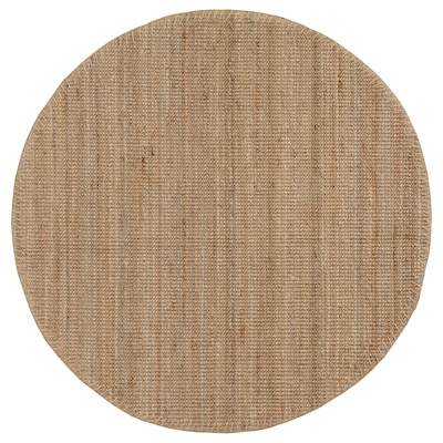 LOHALS Tapete, tecelagem plana, cru, 230 cm