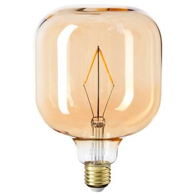 LUNNOM Lâmpada LED E27 80 lúmens, tubular vidro transp castanho