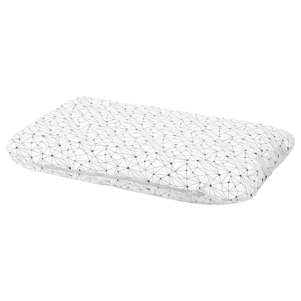 LURVIG Almofada, branco/preto, 62x100 cm
