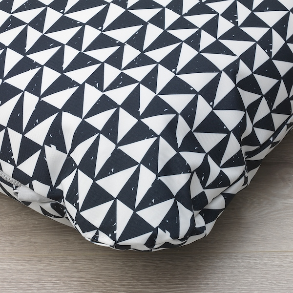 LURVIG Almofada, preto/triângulo, 62x100 cm