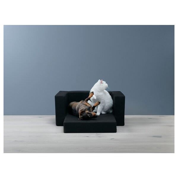 LURVIG Cama p/cão/gato, preto, 68x70 cm