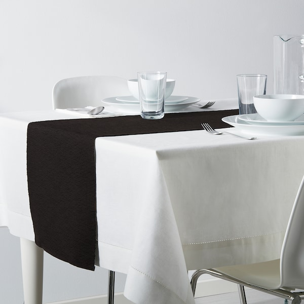 MÄRIT Corre-mesa, preto, 35x130 cm