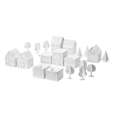MÅLA Conj. modelo cidade cartão, 10pçs