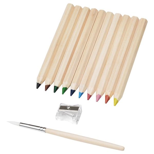 MÅLA Lápis de cor, várias cores