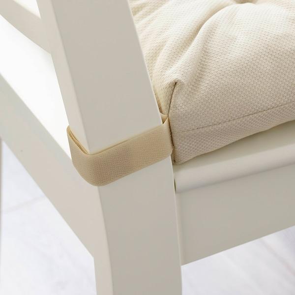 MALINDA Almofada p/cadeira, bege claro, 40/35x38x7 cm