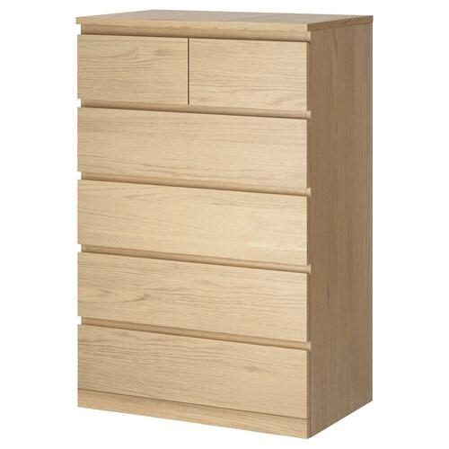 IKEA MALM Cómoda c/6 gavetas