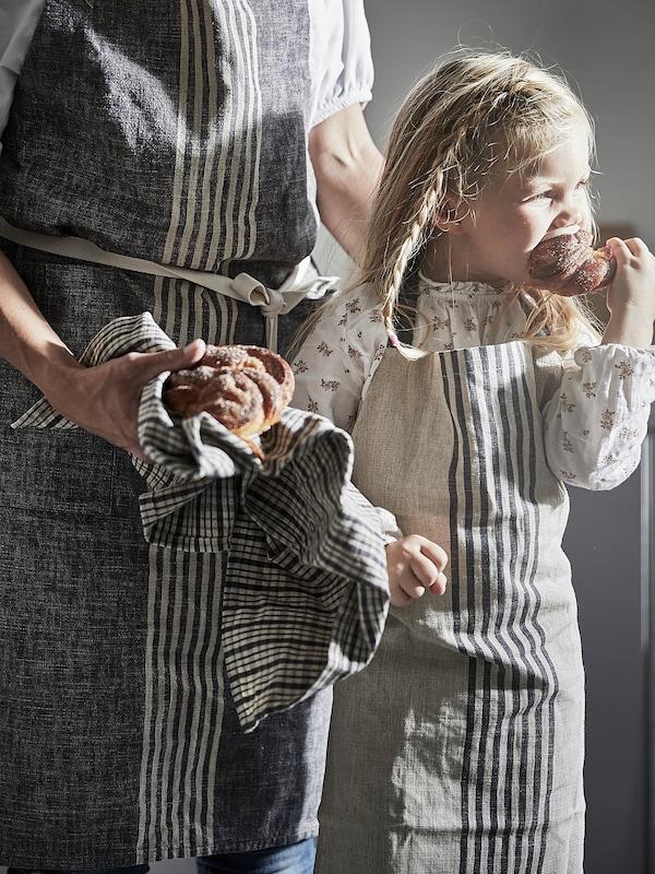 MARIATHERES Avental p/criança, bege, 45x57 cm