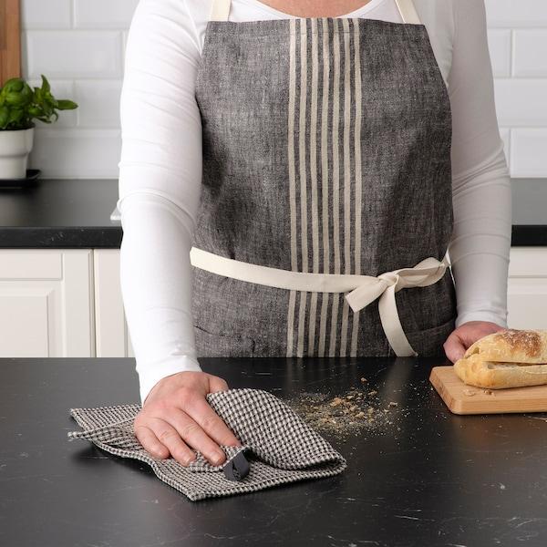 MARIATHERES Pano de cozinha, cinz/bege, 30x30 cm
