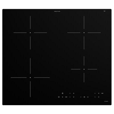 MATMÄSSIG Placa de indução, preto, 59 cm