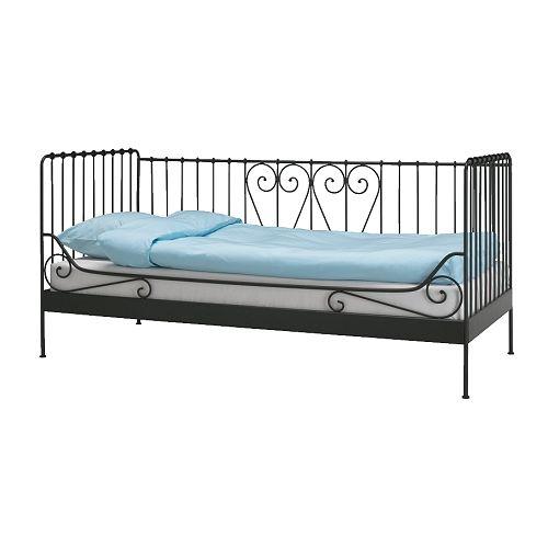MELDAL Estrutura de cama IKEA 2 funções em 1: Sofá durante o dia e cama à noite.